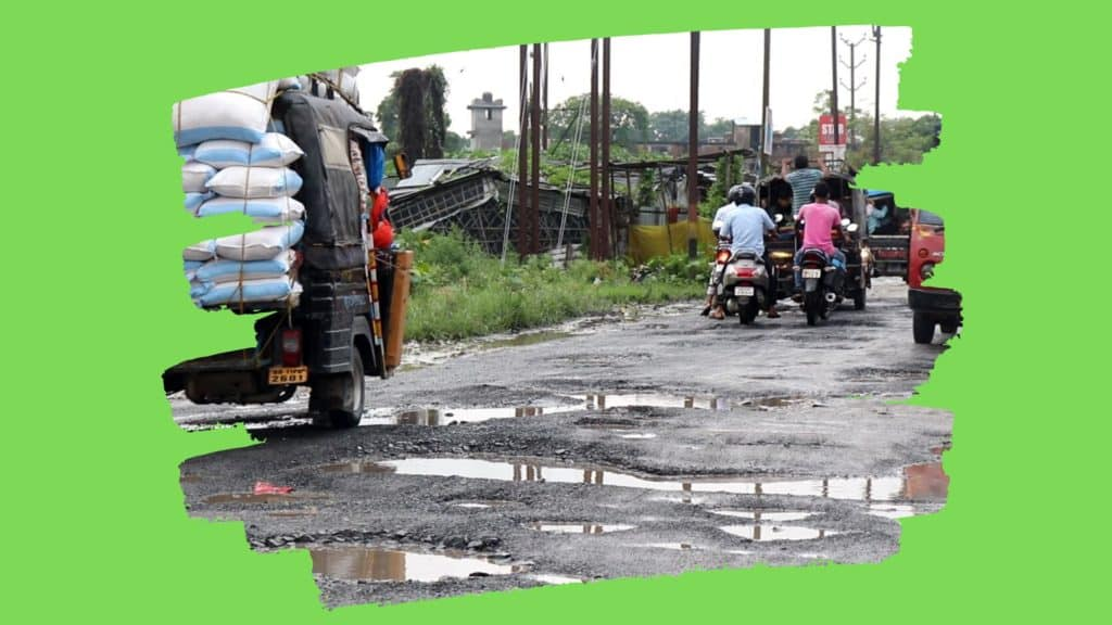 Kishanganj leaders should drown in these potholes on main road
