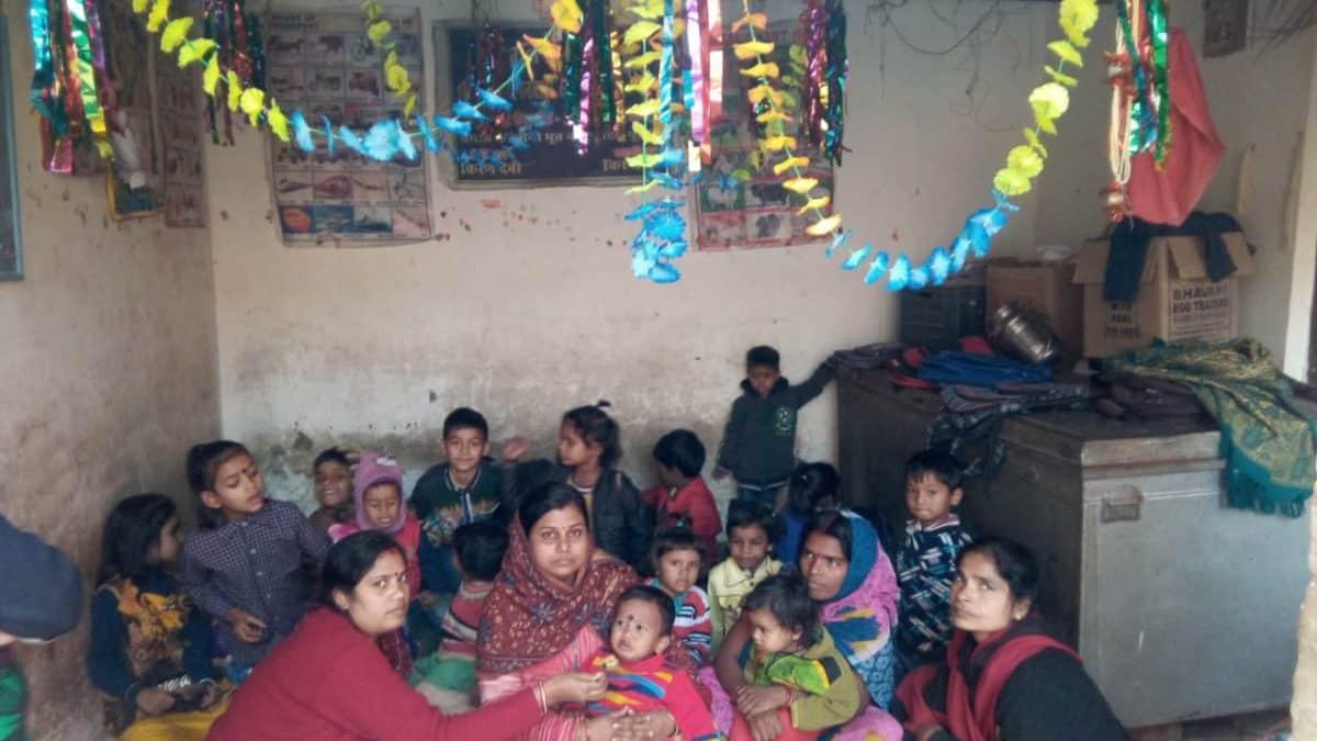 आंगनबाड़ी केन्द्रों में मनाया गया अन्नप्राशन दिवस