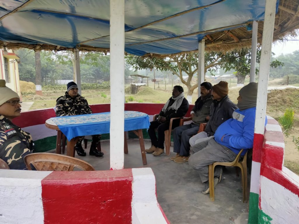 SSB coordination meeting with villagers at Indo-Nepal border