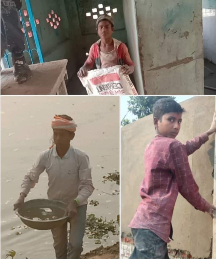 Child labour in the workplace of Chief Minister Nitish Kumar's arrival