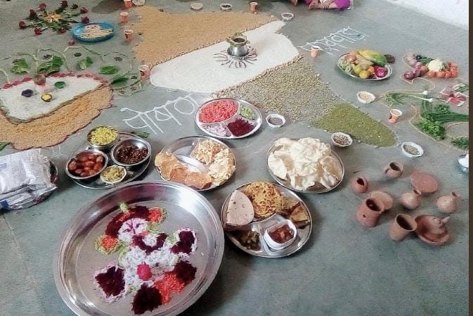 Anganbaadi centres celebrate Annaprashan day