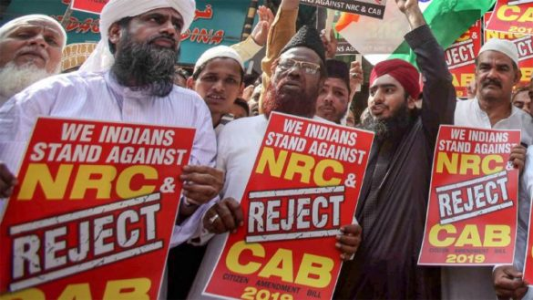 Protest march against CAB and NRC