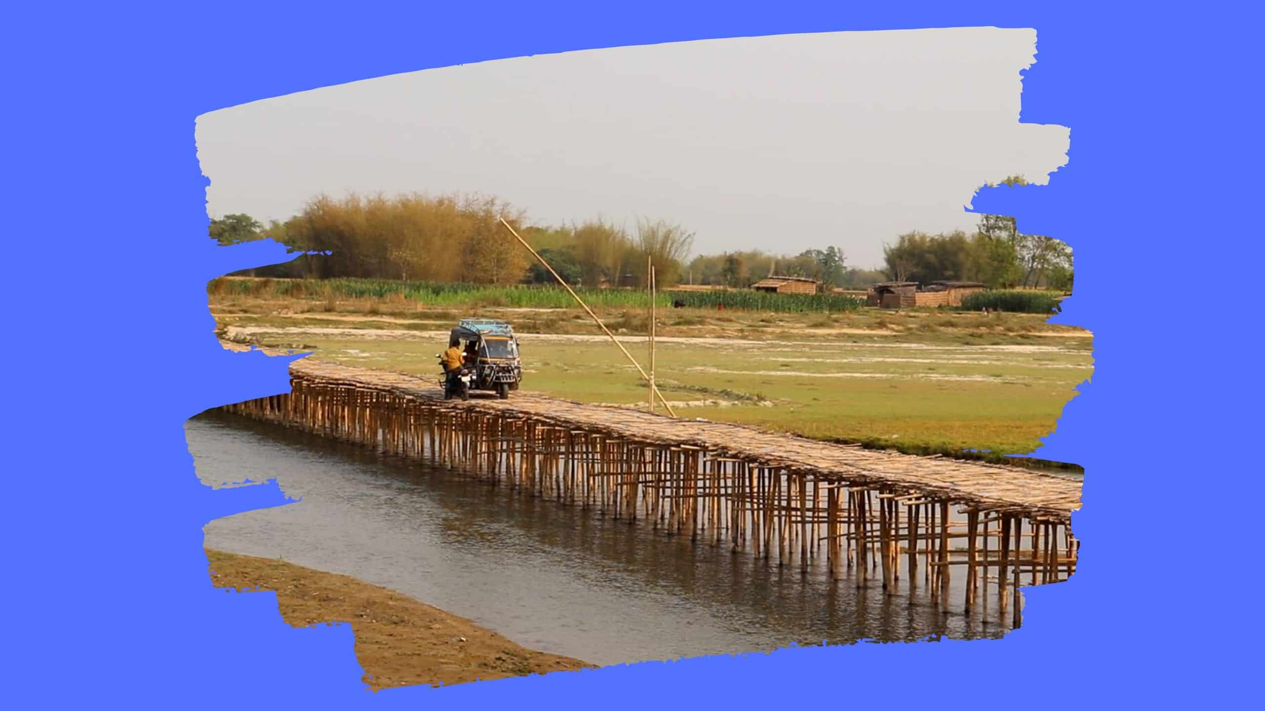 Nitish government's lies exposed on bamboo bridges in Bihar