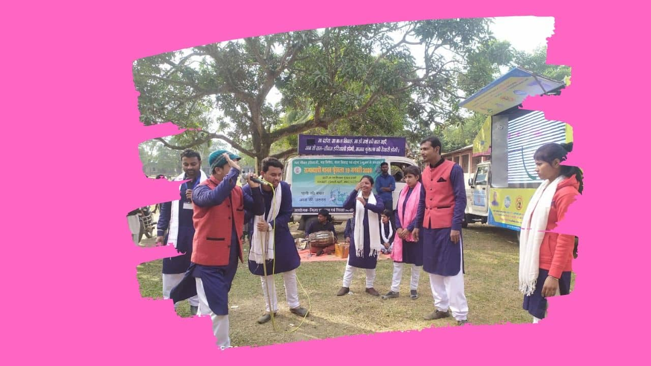 Awareness campaign being run for the Manav series by playing Nukkad