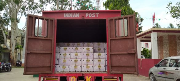 New trick for smuggling liquor, postal parcel car