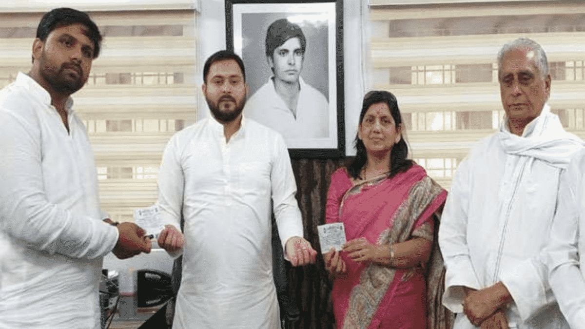 तेजस्वी यादव ने आनंद मोहन के बेटे चेतन को दिया टिकट