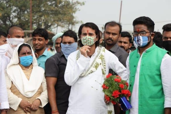 tej pratap yadav files nomination from hasanpur vidhan sabha